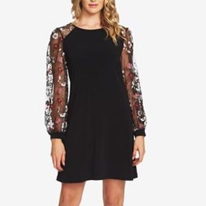 CeCe Black Puffer Sleeve Dress